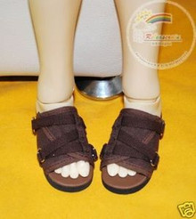 Brown Straps Brown Sandals Shoes for SD13 Boy Rainy Girl BJD Dollfie Dolls