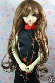 Dollfie SD Brown Wet Bottom Curl 8-9 Wig #3146-28C