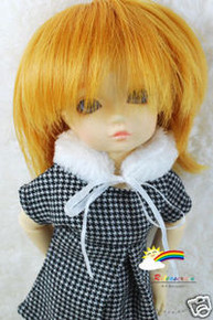 Dollfie Yo-SD Peach Gold 6-7 Heat Resistance Wig #D6113