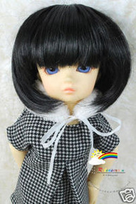 Dollfie Yo-SD Black Bob 6-7 Heat Resistance Wig #D6016N