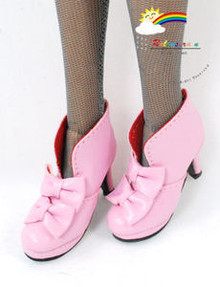 """16"""" Tonner Tyler/Gene Shoes Bows Ankle Boots Pink"""