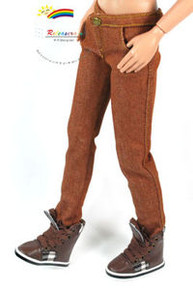 "17"" Tonner Matt O'Neill Outfit Skinny Jeans Brown"
