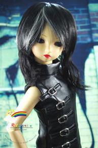 Dollfie SD Black/L Blond 8-9 Heat Resistant Wig #D3225