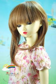 Dollfie SD Chestnut Brown 8-9 Heat Resistant Wig #D3093