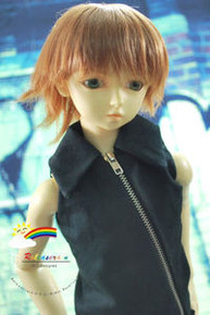 Dollfie SD Brown Short 8-9 Heat Resistant Wig #D3252