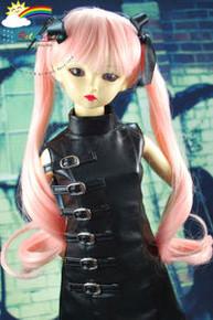 Dollfie SD Pink Pigtails 8-9 Heat Resistant Wig #D3236