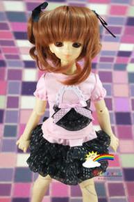 Brown 7-8 Heat Resistant Wig #D4164-M30 for MSD BJD Dollfie Ellowyne Wilde Dolls