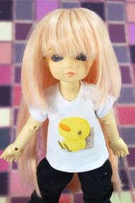 Dollfie Yo-SD Pink/Blond 6-7 Heat Resistant Wig #D6029