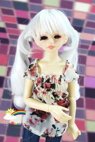 Dollfie Unoa Milk White 6-7 Heat Resistant Wig #D6067