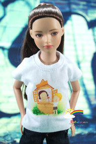"12"" Tonner Marley Doll Outfit White T-Shirt Give a Rose"