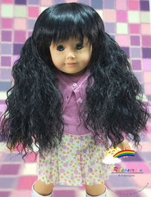 American Girl Doll Heat Resistant 12-13 Wig Black #A004
