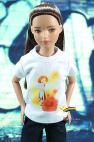 "12"" Tonner Marley Doll Outfit White T-Shirt My Rabbit"