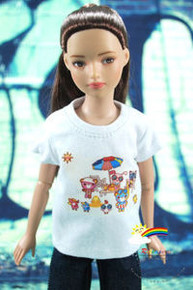 "12"" Tonner Marley Doll Outfit White Tee Sunshine Beach"