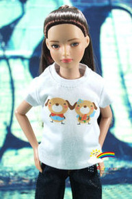 "12"" Tonner Marley Doll Outfit White T-Shirt Dog Wedding"
