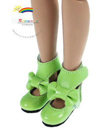 "Lawn Green Mary Jane Bow Boots Shoes for 12"" Tonner Marley"