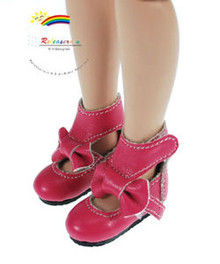 "Fuchsia Mary Jane Bow Boots Shoes for 12"" Tonner Marley"
