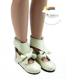 "Ivory Mary Jane Bow Boots Shoes for 12"" Tonner Marley"