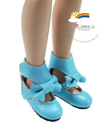 "P Blue Mary Jane Bow Boots Shoes for 12"" Tonner Marley"