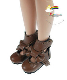 "Brown Mary Jane Bow Boots Shoes for 12"" Tonner Marley"