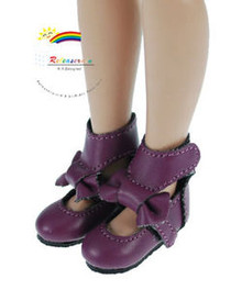 "Purple Mary Jane Bow Boots Shoes for 12"" Tonner Marley"
