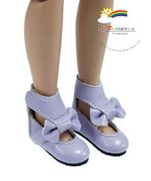 "Lilac Mary Jane Bow Boots Shoes for 12"" Tonner Marley"