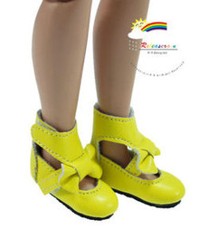"Lemon Mary Jane Bow Boots Shoes for 12"" Tonner Marley"