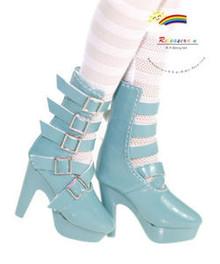 "16"" Tonner Tyler/Ellowyne Shoes 5-Strap Boots Pt P Turq"