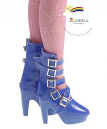 "16"" Tonner Tyler/Ellowyne Shoes 5-Strap Boots Pt Blue"