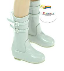 "Buckle Shoes Boots Patent Grey for Slim MSD BJD Unoa Minifee 17"" Tonner Matt 14"" Kish"