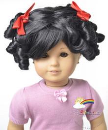 "18"" American Girl Heat Resistant 12-13 Wig Black #A015"