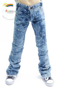 Dollfie SD13 Boy Holes Blue Washed Bell-Buttom Jeans