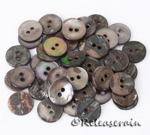 Releaserain Doll Clothes Sewing 12mm Round 2-Hole Natural Abalone Buttons 25pcs