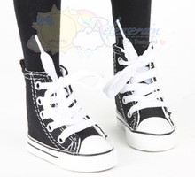 Ankle Lace-Up Cons Sneakers Shoes Boots Black for SD Girl Dollfie BJD Dolls