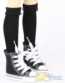 Black Lace Trim Stockings Socks for SD Girl Dollfie BJD ball jointed dolls