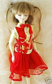 Brown Blond Oriental 7-8 Wig for MSD BJD Dollfie Ellowyne Wilde Dolls #4028-24/27M
