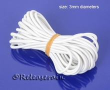 3mm Doll Elastic Cord String White for Stringing BJD Ball Jointed Dolls 5 yards
