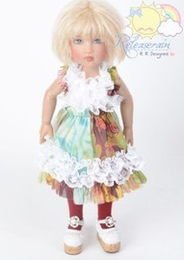 "Fairy Art White Ruffle Lace Mesh Dress Doll Outfit for 12"" Kish Bethany dolls"