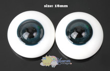 Doll Glass Eyes Deep Ocean 18mm #MM01 for BJD Dollfie, Reborn dolls