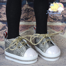 """Lace-Up Chunky Sneakers Shoes #K09 for MSD Kaye Wiggs BJD Dollfie 16"""" Sasha Doll"""