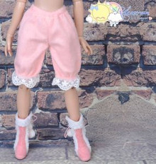Doll Clothes Fluffy Lace Bloomers Pants Creamy Pink for Tyler Ellowyne Wilde MSD