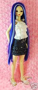 Dollfie SD Blue Milky White 8-9 Wig #3040N-BL070/1001HL
