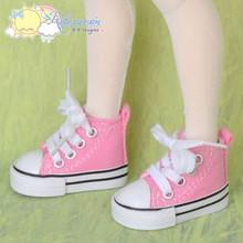 "Doll Shoes Ankle Sneakers Boots Pink for MSD BJD Dollfie Unoa 17"" Tonner Matt"