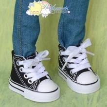 "Doll Shoes Ankle Sneakers Boots Black for MSD BJD Dollfie Unoa 17"" Tonner Matt"