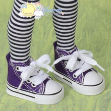 "Doll Shoes Ankle Sneakers Boots D Purple for MSD BJD Dollfie Unoa 17""Tonner Matt"