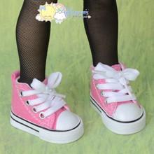 "Doll Shoes Ankle Sneakers Boots S Pink for MSD BJD Dollfie Unoa 17"" Tonner Matt"