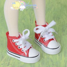 """Doll Shoes Ankle Sneakers Boots Red for MSD BJD Dollfie Minifee 17"""" Tonner Matt"""