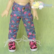 Doll Clothes Strawberry Denim Blue Jeans for Yo-SD Littlefee BJD Dollfie Dolls