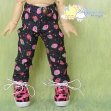 Doll Clothes Strawberry Denim Dark Navy Jeans for Yo-SD Littlefee BJD Dollfie