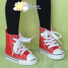 Ankle Lace-Up Cons Sneakers Shoes Boots Red for SD Girl Dollfie BJD Dolls