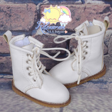 "Martin Stitch Shoes Boots Milky White for MSD BJD Dollfie Kaye Wiggs 16"" Sasha Dolls"